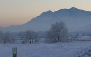 Cold Winter evening near Boulder