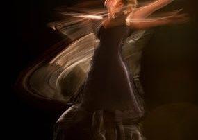 Woman dancing wildly